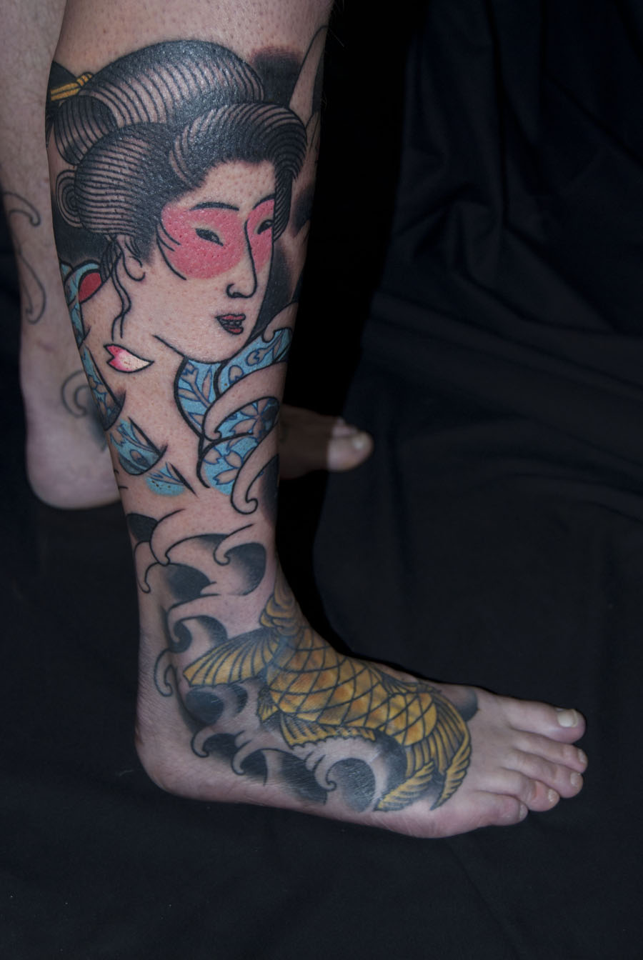pearl diver after Kuniyoshi