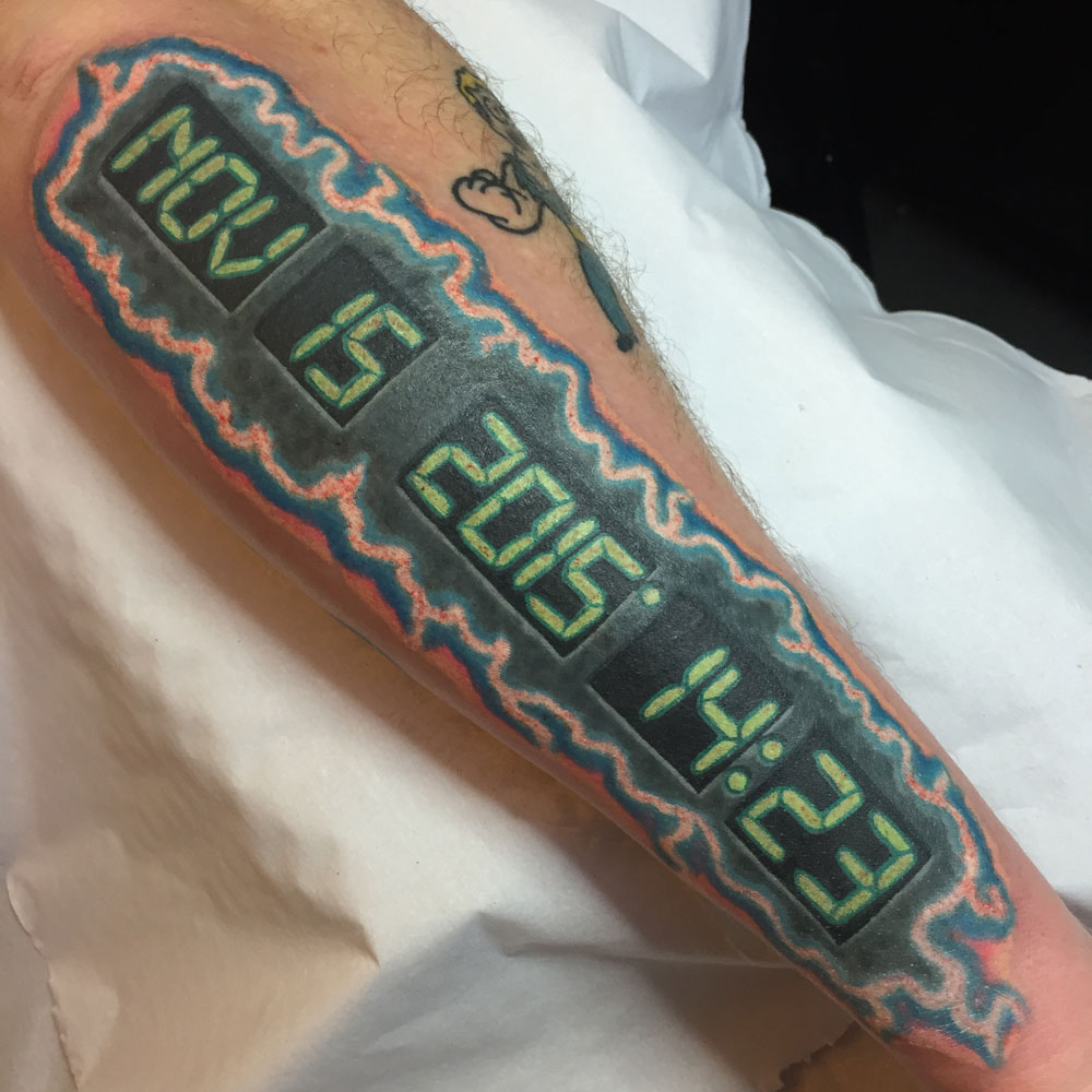 Digital display tattoo